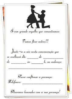 Gy Farias: Modelos de convites para noivado