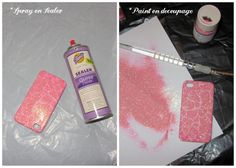 Linen, Lace, & Love: DIY: Glitter Cell Phone Case