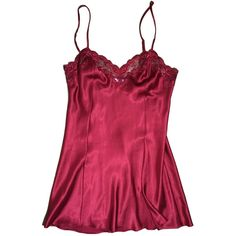 90s Victoria's Secret Red Mini Dress Nightie Nightgown Satin Lace with... ($11) ❤ liked on Polyvore featuring intimates, sleepwear, nightgowns, sexy sleep wear, vintage nightgown, victoria secret sleepwear, victoria secret nightie and lace nightie