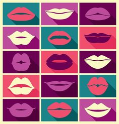 A Lips collage. Poster, T-shirt, Mousepad