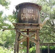 This is a replica of a old west water tower that is located in Disney World River County park.