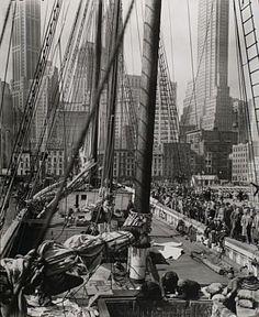 East River Pier, Manhattan 1936 Berenice Abbott