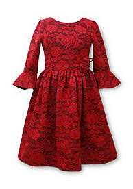 Bonnie Jean® Bell Sleeve Lace Dress Girls 7-16