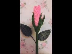 Crochet rosebud Petal A ถักกุหลาบตูม - YouTube