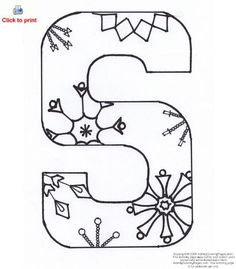 Letter S Activity Coloring Page Printable