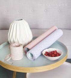 Design, interior, decoration, papers, floristic materials.