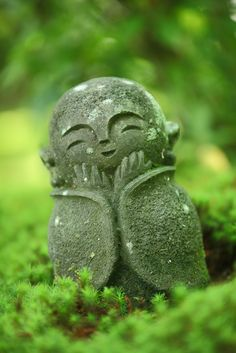 Smiling Jizo statue of Enko-ji temple, Kyoto, Japan
