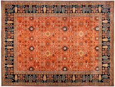 The wide-ranging Ziegler Collection includes area rugs and large carpets in traditional Persian style but not as elaborated or complex. The designs are bold, striking and colorful. Heriz rugs, South Persian tribal pieces, true Ziegler Sultanabads, and almost any non-urban Iranian weaving has been interpreted and creatively adapted for the Ziegler line. These carpets are directly appealing and therefore work well in any context, overall style or period.