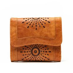 Ladies Leather Wallet Hollowed Out Designs
