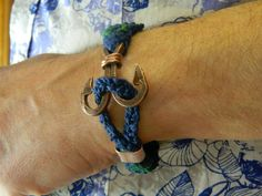 #braided #mensbracelet  #nauticabracelet #copper  #anchor
