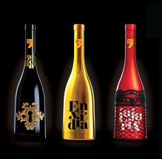 designed each bottle Based on each of the 7 deadly sins.... Awesome idea