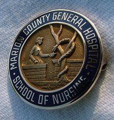 Marion County General Hospital Nursing Pin  Graduated 1962