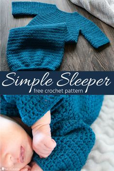 footie pajamas baby infant Simple Newborn Sleeper: Free Crochet Pattern If you're a beginner in crochet and looking for an easy crocheted baby project, this Simple Newborn Sleeper uses only one stitch, and works up super fast! Bag Crochet, Crochet Gratis, Crochet Clothes, Crochet Stitches, Crotchet, Free Crochet Bootie Patterns, Crochet Patterns For Baby, Crochet Baby Cocoon Pattern, Layette Pattern
