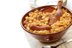 A legendary French chef once said this duck and beans stew was the god of southwestern French food. He was wrong. Cassoulet is the god of ALL FOODS. Nothing — and I mean NOTHING — can match the comfort brought to you by a good cassoulet. It is the most heartwarming and delicious dish there is. Making a good cassoulet takes some time and effort, but it's all worth it.Find a recipe here and here. What to drink: A red wine, preferably from the southwest of France.For dessert: A French apple…