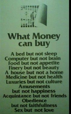 What money CAN buy