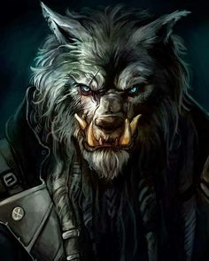 m Orc WereWolf Leather Armor portrait Dungeons And Dragons Game, Dungeons And Dragons Homebrew, Magical Creatures, Fantasy Creatures, Character Portraits, Character Art, Anime Fantasy, Fantasy Art, Werewolf Girl