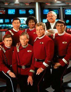 I liked all six movies with the original Star Trek cast. I grew up watching Star Trek on T. Star Trek 2009, Star Trek Vi, Star Trek Cast, Star Trek Ships, Star Wars, Leonard Nimoy, William Shatner, Star Trek Enterprise, Harrison Ford