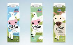 Olympos Milk packaging rebranding on Behance
