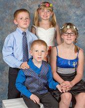 Sarah, 11; Arura, 8; Michael, 7; and Austin, 5. from Florida