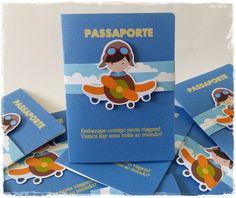 Convite passaporte:  - impressão em papel 180 grs com textura  - envolto por fita de papel + aplique  - embalado com saco celofane 10x15 + etiqueta personalizada  - este modelo pode ser feito em qualquer tema  - medida aberto: 12x17 e fechado: 12x8,5  A partir de 20 unidades.