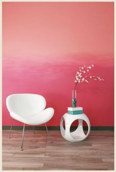 Love the look of ombre? Follow these step by step illustrated instructions and add an ombre wall to your space.