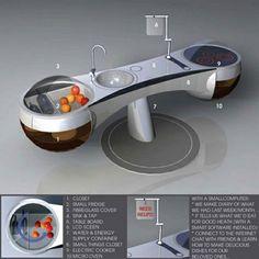 Future kitchen trends – Technology World Kitchen Furniture, Kitchen Interior, Home Interior Design, Funky Furniture, Painting Furniture, Interior Paint, Furniture Design, Kitchen Buffet, Life Kitchen