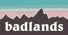 halsey badlands patagonia logo