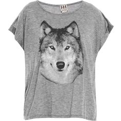 HAUTE HIPPIE Hungry Like the Wolf sheer T-shirt ($45) ❤ liked on Polyvore featuring tops, t-shirts, shirts, blusas, grey, rayon t shirt, grey shirt, wolf t shirt, jersey shirts and gray t shirt