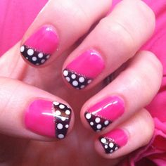 Fun pink nails!