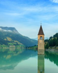 Lake Reschen: South Tyrol, Italy