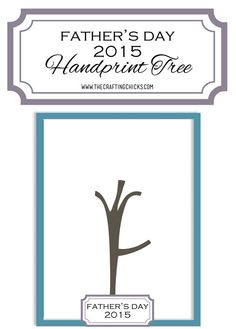 Father's Day Handprint Tree 2015 printable Fathers Day Crafts, Gifts For Father, Gifts For Kids, Diy And Crafts Sewing, Crafts To Do, Kid Crafts, Handmade Crafts, Diy Father's Day Gifts, Father's Day Diy