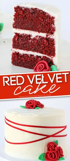 The most PERFECT Red Velvet Cake with decadent cream cheese frosting is the ideal cake for your next celebration! This easy and delicious cake recipe is moist and flavorful and can be made as red velvet cupcakes if you prefer! Wonderful for Valentine's Day and Christmas! // Glorious Treats #redvelvetcake #redvelvet #cakerecipes #baking #cakes #cake #valentinesday #christmascake Fondant Cupcakes, Velvet Cupcakes, Cupcake Cakes, Red Velvet Cake Frosting, Easy Red Velvet Cake, Delicious Cake Recipes, Easy Cake Recipes, Yummy Cakes, Baking Recipes