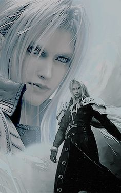#sephiroth #ff7 Fantasy Male, Fantasy Warrior, Cool Anime Guys, Anime Love, Final Fantasy Cloud, Vincent Valentine, Les Gifs, Avatar, Cloud Strife