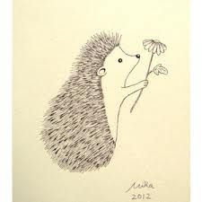 Adore this ink drawing. Love the idea of decorating a nursery with simple original illustrations. Original Ink Drawing Print Ivory Cute Hedgehog Flower Woodland Illustration, if next baby is a boy. Woodland Illustration, Hedgehog Illustration, Illustration Art, Ink Drawings, Cute Drawings, Simple Drawings, Cute Sketches, Black And White Wall Art, Black White