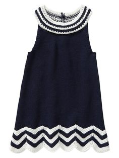 Gap Crochet Zig Zag Dress - I soooooo want this - too bad it's for a little girl! :(