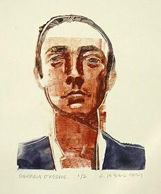 Gary Kelley, Georgia O'Keeffe, monontype