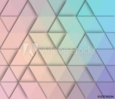 Abstract triangle retro styled colorful background