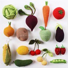OlinoHobby: вязаные овощи и фрукты, вязаная еда на заказ. Crochet fruits and…
