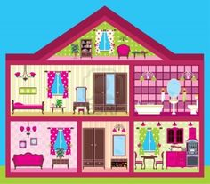 Find maison de poupée stock images in HD and millions of other royalty-free stock photos, illustrations and vectors in the Shutterstock collection. Paper Doll House, Paper Houses, Paper Dolls, House Clipart, House Vector, Kids Background, Background Drawing, House Quilts, Girl House