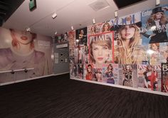 """These walls of """"The Taylor Swift Experience,"""" an exhibit that's so popular, it's sticking around a while longer. Long Live Taylor Swift, Taylor Swift Pictures, Taylor Alison Swift, Grammy Museum, Life Before You, Taylor Swift Wallpaper, Album Of The Year, Room Inspiration, My Idol"""