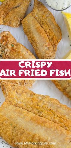 This Crispy Air Fryer Fish recipe is healthy and delicious. It's the perfect Air Fryer recipe for beginners or advanced air fryer users. Crispy Air Fryer Fish is golden, crispy, delicious, and healthy. Air Fryer Recipes Snacks, Air Fryer Recipes Breakfast, Air Fryer Dinner Recipes, Low Carb Recipes, Vegetarian Recipes, Cooking Recipes, Ninja Recipes, Cooking Tips, Cooking Food