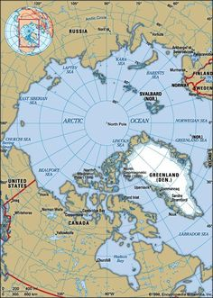 Smallest of the world's oceans, centring approximately on the North Pole. The Arctic Ocean and its marginal seas (the Chukchi, East Siberian, Laptev, Kara, Barents, White, Greenland, and Beaufort; some...