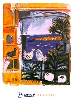 Pablo Picasso  	The Pigeons, 1957 Art Print
