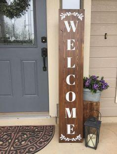 Best welcome sign front door diy ideas curb appeal Ideas #diy #door