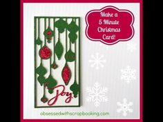 Make a 5 Minute Christmas Card with Close to My Heart Artbooking Cricut ...