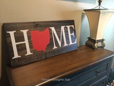 Home Wood Sign, Custom, Ohio, State Sign, Wood Sign, Rustic, Housewarming Gift, Home Decor, Buckeyes   http://www.housedesigns.top/2017/08/11/home-wood-sign-custom-ohio-state-sign-wood-sign-rustic-housewarming-gift-home-decor-buckeyes/