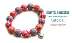 How to make a stretchy elastic bracelet. This would be fantastic with Cotton Wrapped Beads!