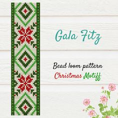 Christmas motiff bead loom pattern #christmasmood #ukrainianpattern #beadloom #beadloombracelets #beadloompattern