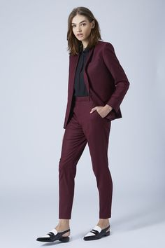 Topshop Burgundy Suit