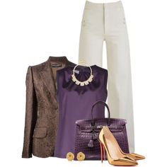 """Brown, Purple & Gold O3"" by jay-to-the-kay on Polyvore"